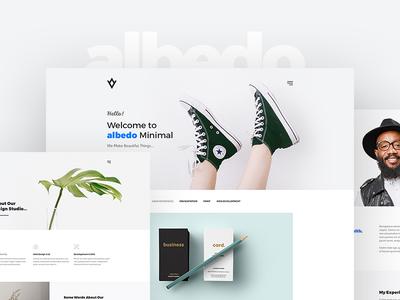 Albedo – Minimal Portfolio PSD Template clean simple website psd template psd graphic design studio personal minimalistic minimal