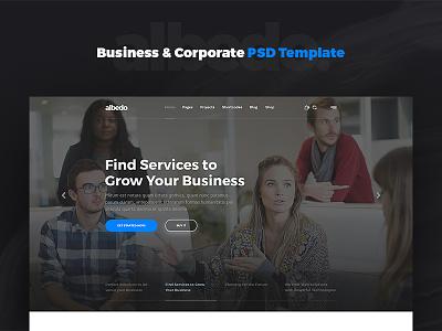 Albedo – Business & Corporate PSD Template albedo psd template website template psd company corporate business