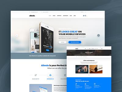 Albedo – Classic & Standard PSD Template standard classic website material design soft material psd template template psd albedo