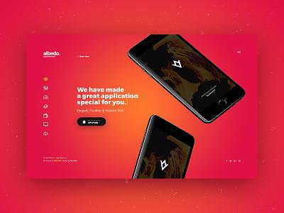 Albedo - Full Screen App Showcase PSD Template showcase app showcase app template psd full screen full-screen fullscreen albedo
