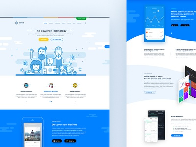 Utouch - App Startup HTML Template startup template html template clean soft material design courses events business it startup app startup app html