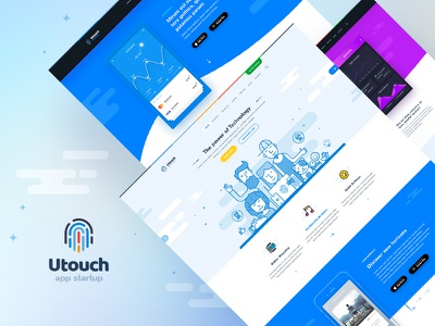 Utouch - Startup Business and Digital Technology WordPress Theme filled outline design soft material design website template wordpress theme digital technology app startup app startup business