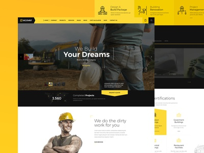 Recover - Multipurpose Joomla Template joomla multipurpose template website building education transportation beauty gym dental construction recover