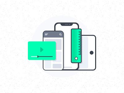 Mobile App Interfaces Illustration app interface mobile app website interface app iphone x illustration icon