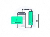 Mobile App Interfaces Illustration