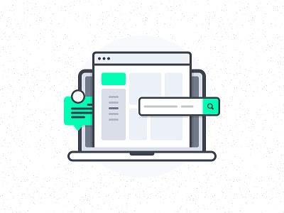 Web App Interfaces Illustration dashboard web app linear illustration flat illustration web elements user interface ui kit ui web interfaces app interfaces