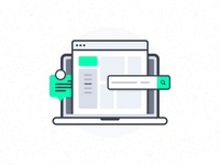 Web App Interfaces Illustration