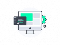 Front-End Development Illustration