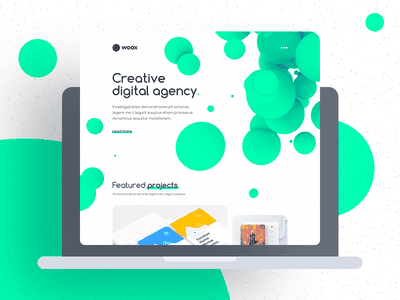 Woox - Creative Digital Agency Website Template portfolio corporate motion design web-design ui kit non-standard website digital agency website template