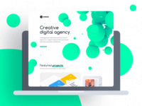 Woox - Creative Digital Agency Website Template portfolio corporate motion design web-design ui kit non-standard website digital agency website template