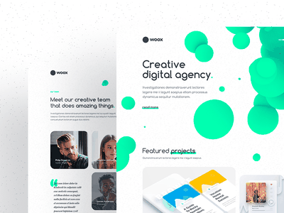 Woox - Creative Portfolio HTML Website Template design studio modern creative portfolio html template website template creative digital agency