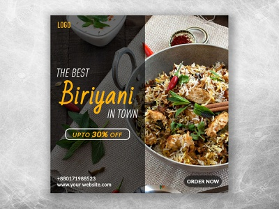 Modern Social media banner. modern social media banner fast food delicious black and white internet online biriyani tasty facebook instagram order now attractive discount creative poster banner social media