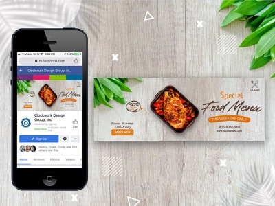 Facebook cover for restaurant. facebook ads vector restaurant cover food cover digital marketing ui ux illustrator photoshop poster banner facebook post gradient social media banner web banner modern creative 2021 instagram post facebook cover facebook cover photo