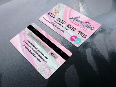 Credit Card Design costume blue wig visiting card makeup artist logo glitter credit card business card design business cards