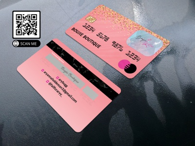 Mockup 21 illustration animation costume wig business card design glitter business cards visiting card makeup artist credit card