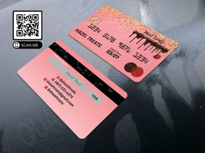 Mockup 23 brand vector wig logo branding design glitter makeup artist credit card business cards business card design