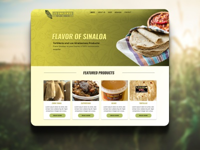 Daily UI 043 Food/Drink Menu dailyui 043 daily ui 043 corn mexican food menu website