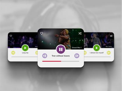 Daily UI 44 Favorites Music carousel reggae musician favourites minimal dailyui 044 daily ui music