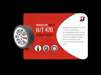 Daily UI 045 Info card black red catalog tyres info card