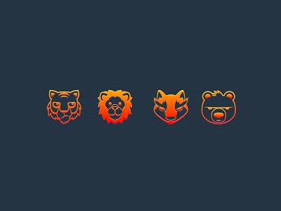 Daily UI 055 Icon Set daily ui 055 dailyui 055 animals icon set icons