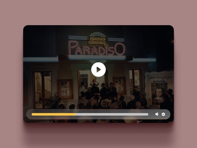 Daily UI 57 Video Player daily ui 057 cinema video player video