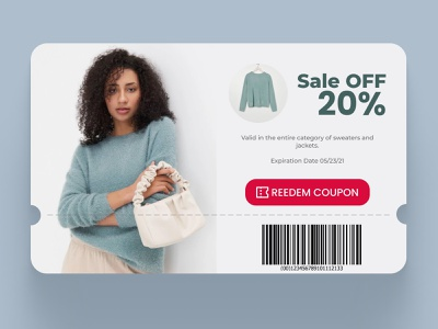 Daily UI 061 Redeem Coupon woman clothing fashion store dailyui 061 reedem daily ui 061 coupon