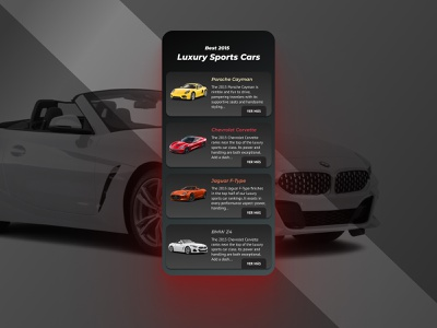 Daily UI 063 Best of 2015 dark mode daily ui 063 cars best of dribbble best of 2015