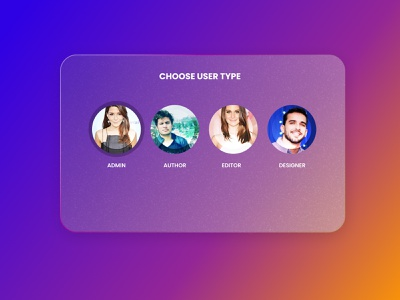 Daily UI 064 Select User Type user type daily ui 064