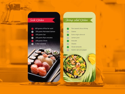 Daily UI 65 Notes Widget salad daily ui 065 kitchen notes app notes