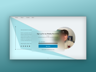Daily UI 016 - Popup / Overlay notthesong blur glasseffect ux ui design daily ui challenge adobe xd