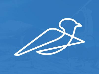 Blue Bird Day logo snow bird mountain skiing bluebird