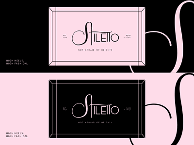 Stiletto Shoes Logo made in italy brand design fashion heels brand identity branding shoes logo shoes illustration design