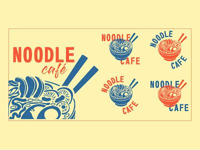 Noodle café studio noodles japanese food restaurant restaurant logo logo branding brand identity brand design illustration design