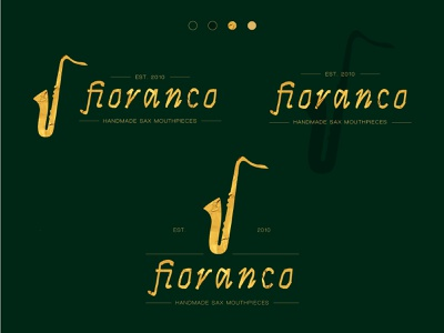 Fioranco Logo studio gold saxophone sax jazz music logo branding brand identity brand design illustration design