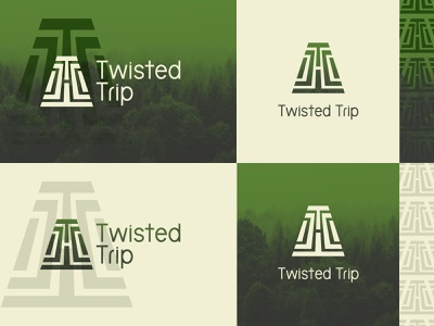 Twisted Trip 2 forest logo design vector logo branding brand identity brand design illustration design
