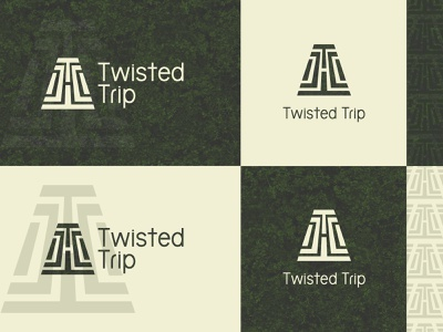Twisted Trip 1 labyrinth logo design logo branding brand identity brand design illustration design