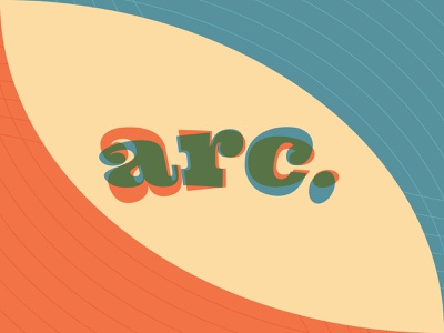 arc. curved arc branding logo fun color palette colorful vector illustration brand design design