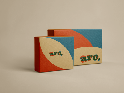 arc. Boxes mockup packaging packagedesign package boxes palette colours cinema colors arc vector logo design logo brand identity branding brand design illustration design