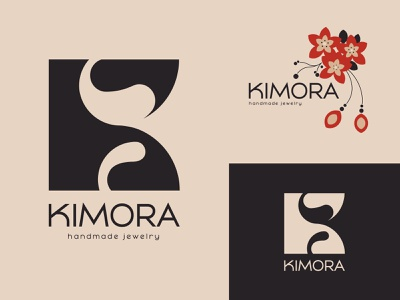 KIMORA jewels girly japanese japan flowers vector jewels jewelry typography logo design logo brand identity branding brand design design