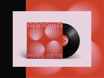 PAPRIKA album cover. 4 circle paprika music vinyl album art album artwork album cover album lines vector illustration design