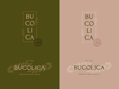 Bucolica.  Pasta Logo pasta italian food logo design vector logo brand identity branding brand design design