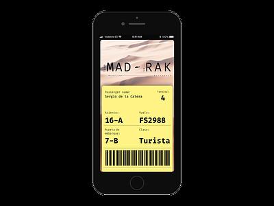 Digital boarding pass productdesign designs device design ux ui boardingpass