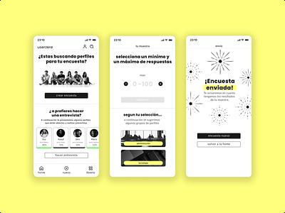 userzerø survey research logo device design app design ux ui designs branding
