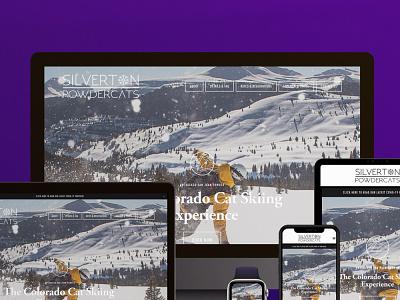 Silverton Powdercats web design webflow squarespace app ux ui minimal clean typography graphic design design branding