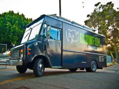 Glowfish Food Truck vector minimal clean typography graphic design design branding food truck vehicle graphics vehicle design vehicle wrap