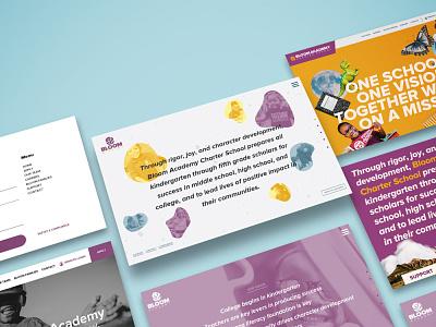 Bloom Academy Web Design branding concept branding and identity charter school minimal ux ui typography design graphic design branding