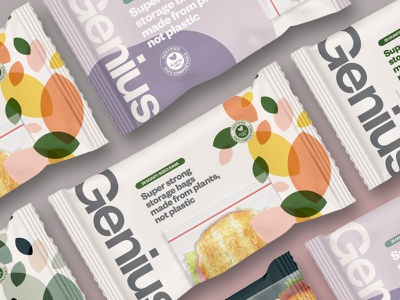 Genius Packaging Concepts logo vector illustration minimal design typography brand identity brand design packaging graphic design branding