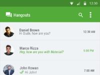 Hangout material design