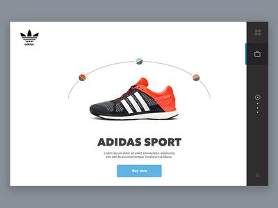 Adidas product page - UI dashboard adidas wear fashion clean minimal ux ui