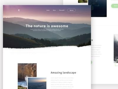 Kinny - Design website design web design landing page travel clean minimal ux ui